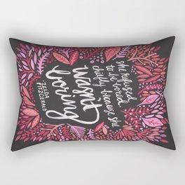 Zelda Fitzgerald – Pink on Charcoal Rectangular Pillow