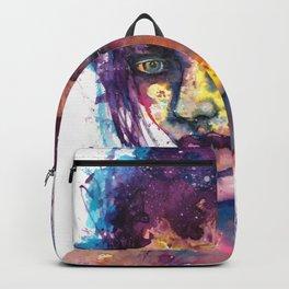 Women face watercolor prints Backpack