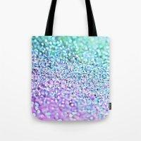 little mermaid Tote Bags featuring Little Mermaid by Monika Strigel