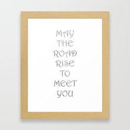 Irish Phrase Print Framed Art Print