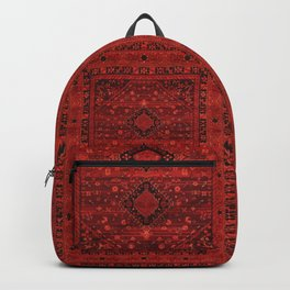 Red Traditional Oriental Moroccan & Ottoman Style Artwork. Backpack