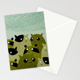 a beaver, a squirrel and a no particular rodent Stationery Cards
