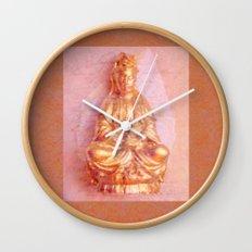 Rose-Bronze Kwan Yin Wall Clock