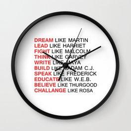 BLACK HISTORY FIGURE Wall Clock