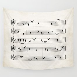 Black Birds Wall Tapestry