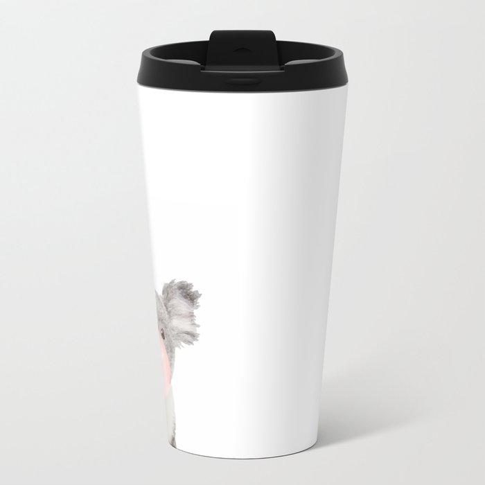 Koala with chewing gum Metal Travel Mug
