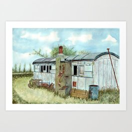 Farm Outbuilding with a Difference. Art Print