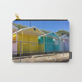 Rainbow Beach Huts Carry-All Pouch