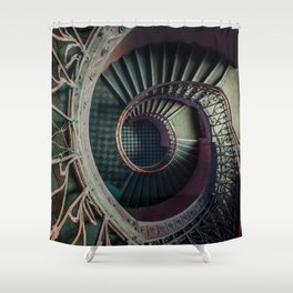 Art Deco spiral staircse Shower Curtain