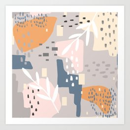 Any Which Way, Abstract Art Color Blocks Pastels Art Print
