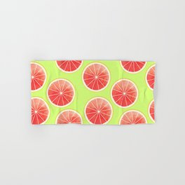 Pink Grapefruit Slices Pattern Hand & Bath Towel