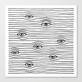 PEEPING TOM [BLK & WHT] Canvas Print