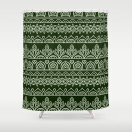 Stripes Mandala 9 Shower Curtain