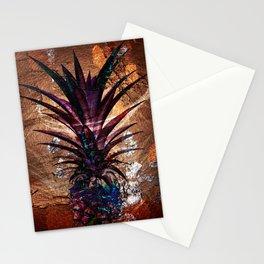 Copper Leaf Pineapple Art #buyart Stationery Cards