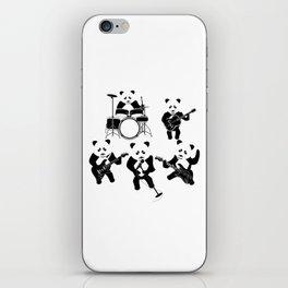 Panda Rock Band iPhone Skin