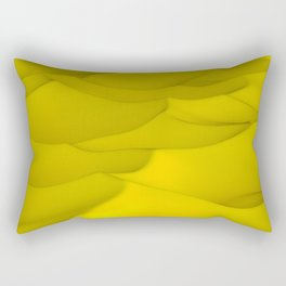 Yellow wavy surface Rectangular Pillow