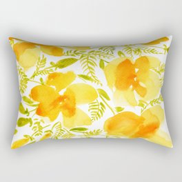 Watercolor California poppies (Quad set, #4) Rectangular Pillow