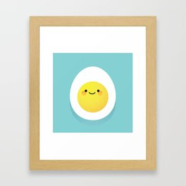 Cute hard boiled eggs Framed Art Print