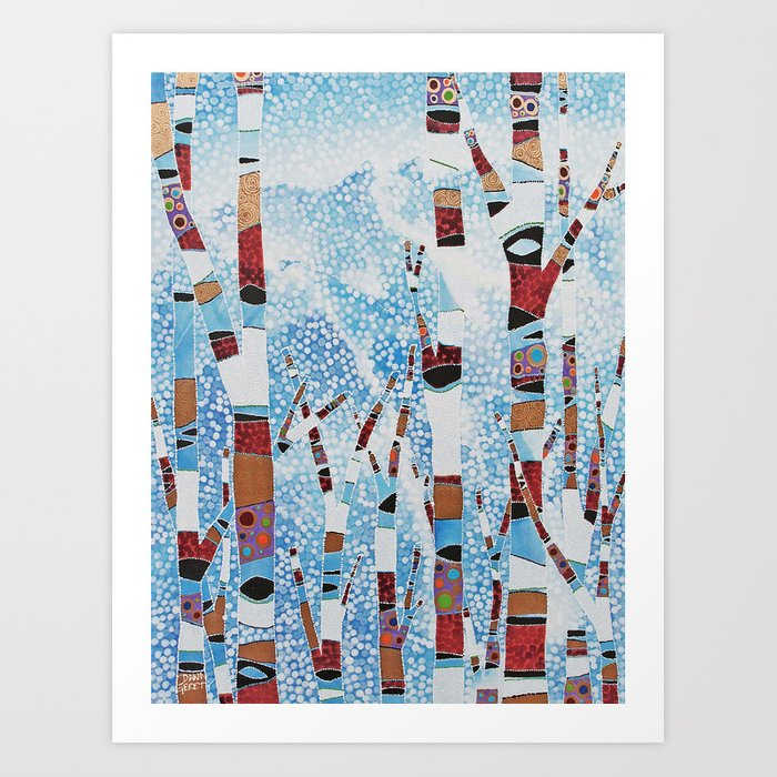 Alyeska First Snowfall Art Print