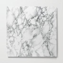 white marble IV Metal Print