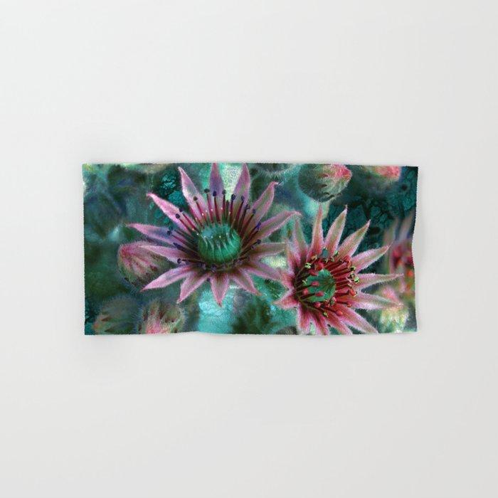Succulents Flower Garden Hand & Bath Towel