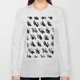 Polka Splotch Black Ink on Paper Long Sleeve T-shirt