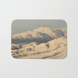 Winter Snow in the Mountains Bath Mat