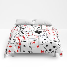 Random Playing Card Background Comforters