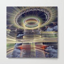 The Tower, Surrealistic mixed media art Metal Print