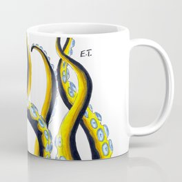 Crazy Octopus Tentacles On White Coffee Mug