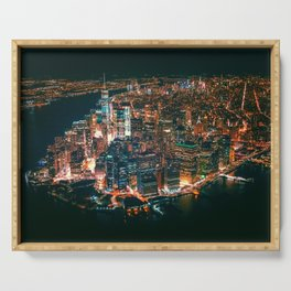 City of Lights New York City (Color) Serving Tray