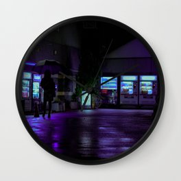Into the Neon Wall Clock