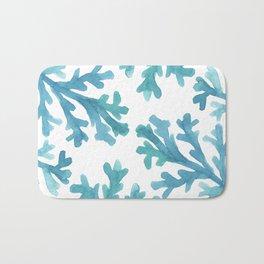 Blue Ombre Coral Bath Mat