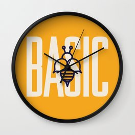 Basic Bee Wall Clock