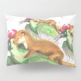 Weasel Riding Woodpecker Gang Pillow Sham