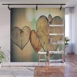 Vintage Boho Chic Bokeh Hearts Wind Chimes Wall Mural