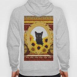 Black Cat Frame Africa pattern Hoody