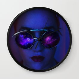 Galaxy glasses Wall Clock