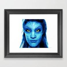 Angelina Jolie Avatar Framed Art Print