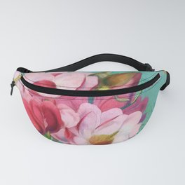 Verdigris Pink Magnolias Fanny Pack