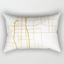 ANCHORAGE ALASKA CITY STREET MAP ART Rectangular Pillow