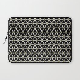 Black, white and gold triangle pattern Laptop Sleeve
