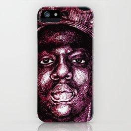 Notorious Purple B.I.G. iPhone Case