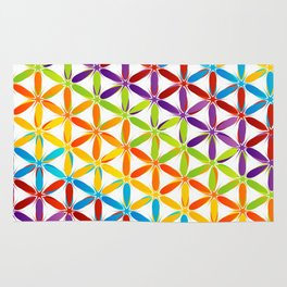 Colorful geometry pattern with stars and sparkles Rug