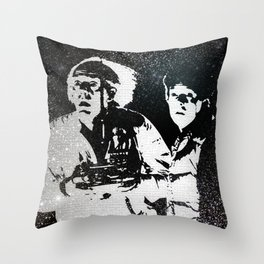 Roads? Where we're going, we don't need roads Throw Pillow