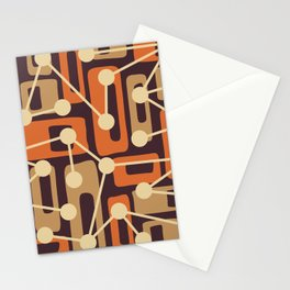 Mid Century Modern Atomic Nucleus Pattern 440 Stationery Cards