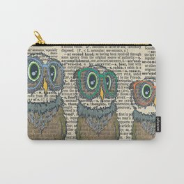 Owl wearing glasses Carry-All Pouch