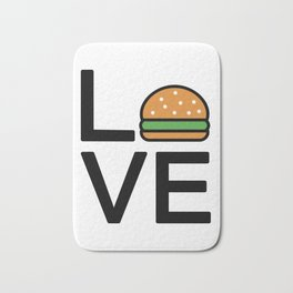 Love Burgers Cute And Funny Love Design Bath Mat
