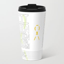 ASCII Ribbon Campaign against HTML in Mail and News – White Travel Mug