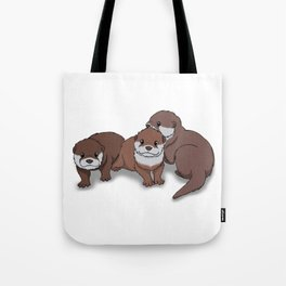 Romp of Baby Otters Tote Bag